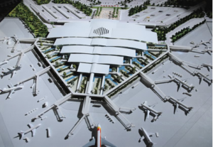Vue de dessus d'aéroport d'Enfidha international