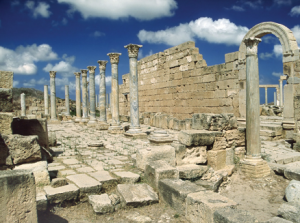 Le chemin de Leptis Magna, Libye