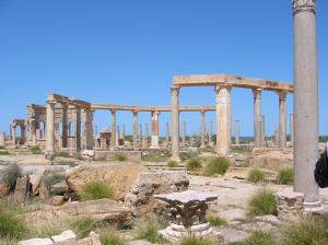 Marché de Leptis Magna, Libye