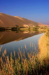 Mer Gabroon dans les dunes de Ubari / Libye