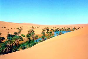 Oasis Um EL Maa, Libye