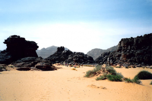 Roches de Tadrart, dans l'extrême sud-ouest de la Libye